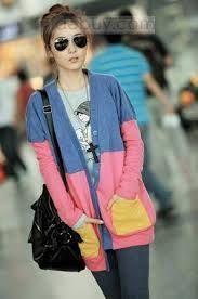 Resultado de imagen para moda coreana  largo sacos