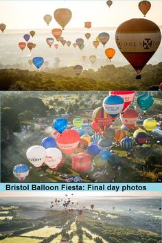 A glorious morning allowed dozens of hot air balloons to take off from Ashton Court as part of the annual Bristol Balloon Fiesta. The fiesta, now in its 39th year, is Europe's largest balloon festival, attracting pilots and visitors from far and wide. This year, more than 130 balloons are taking part in the four-day event. See pictures from the last day here.