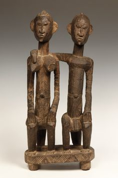 "19th Cent. Dogon, Seated ancestral couple, like one featured in the Metropolitan Collection - Google Search, Picasso's ""African influences"""