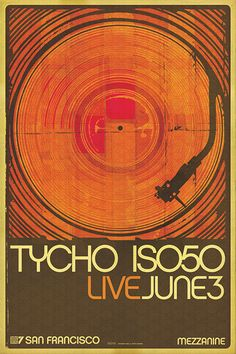 Tycho - music project of San Francisco based artist and producer Scott Hansen Typography Poster, Graphic Design Typography, Graphic Art, Scott Hansen, Concert Posters, Music Posters, Illustrations And Posters, Identity Design, Graphic Design Inspiration