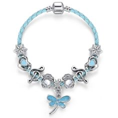 Trendy Silver Plated Animal Dragonfly Musical Note Crystal Beads Charm Bracelet  #instalove #instagood #tumblr #fashion #onlineshopping #love #instagram #followme #spring #summer