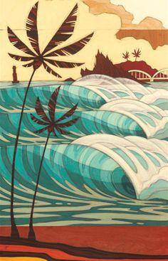 Erik Abel Art #surf #waves More