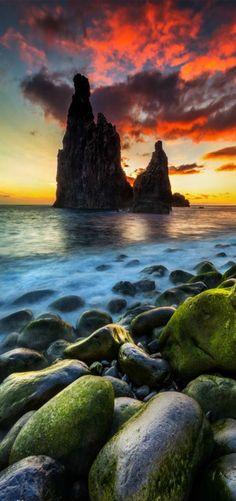 King's Castle at sunrise in Ribeira da Janela, Madeira Island | by Miguel Nóbrega