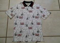 Rare Vintage WALT DISNEY WORLD Mickey Sailing Gear  Polo Shirt Men's Small
