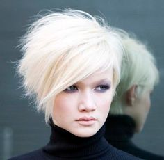 Bob Hairstyles : Short Stacked Messy Hairstyles With Side Bangs ...