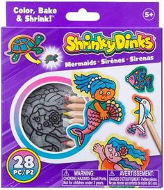 Limited time deal on shrinky Dinks! Christmas Decor Ideas - Happy Christmas - Noel 2020 ideas-Happy New Year-Christmas Top Gifts For Kids, Holiday Crafts For Kids, Mermaid Kids, Mermaid Crafts, Shrinky Dinks, Creative Activities, Craft Activities, Alex Toys, Painting Lessons