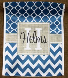 Garden Flag Monogrammed Personalized Outdoor by ChicMonogram
