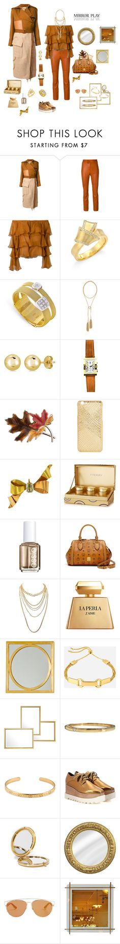 """""""Mirror play"""" by mbarbosa ❤ liked on Polyvore featuring Loewe, Isabel Marant, Balmain, Carelle, Marco Bicego, Kendra Scott, BERRICLE, Bulgari, Anne Klein and By Terry"""