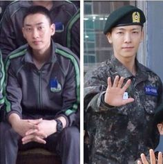 Leeteuk reveals army photos of Eunhyuk and Donghae