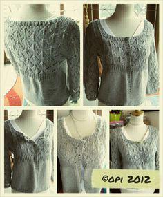 cardi in light grey Sweater Knitting Patterns, Knit Patterns, Free Knitting, Cardigan Sweaters, Knits, Knit Crochet, Grey, Lace, Tops