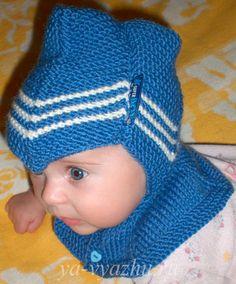 Шапочка-шлем. Вид сбоку