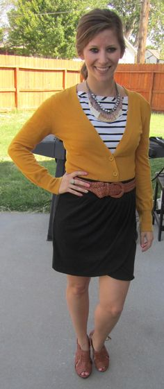 Wimmer Wimmer Chicken Dinner: Mustard, Stripes and Layered Necklaces...Oh My!