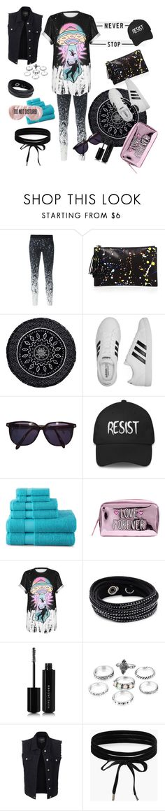 """""""Never stop, follow"""" by paolasantibanezriffo ❤ liked on Polyvore featuring Reebok, Loeffler Randall, The Beach People, adidas, Sonia Rykiel, JCPenney Home, WithChic, Swarovski, Marc Jacobs and LE3NO"""