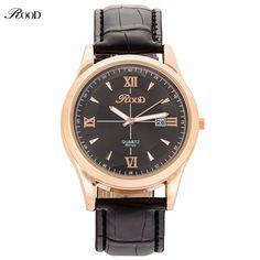 https://www.i-sabuy.com/ Roodผู้ชายนาฬิกาผู้ชายหนังลำลองนาฬิกาควอตซ์สำหรับชายนาฬิกาทหารm ontre h omme