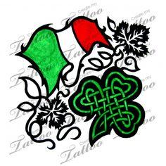 Marketplace Tattoo Italian and Irish Heritage Tattoo #6893 | CreateMyTattoo.com