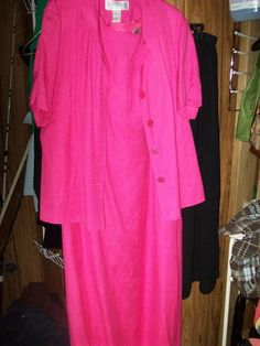 20W 2pc Jessica Howard,Pink,Side Spilt's at hem,Sleeveless,Dress,S/S Jacket  #JessicaHoward #2pc