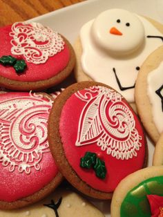 Christmas Lace Cookies