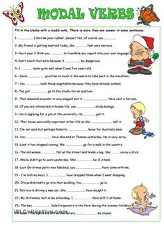 Students fill in the gaps with the appropriate modal verb. - ESL worksheets