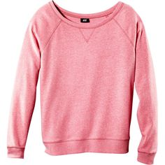 Sweatshirt ($12) ❤ liked on Polyvore featuring tops, hoodies, sweatshirts, sweaters, shirts, women, sweatshirts hoodies, red sweatshirt, red top and h&m tops
