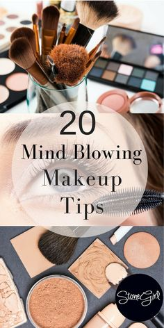 Over 20 tips makeup tips and tricks for every woman from top beauty experts. 20 makeup tutorials so you can have flawless looking skin, beautiful eyes, and eyebrows on fleek. New makeup tips and tricks every girls should know. Makeup Tricks, Lipstick Tricks, Makeup Ideas, Best Makeup Tips, Make-up-tipps Und Tricks, Makeup Brushes, Eye Makeup, Beauty Makeup, Eye Brushes