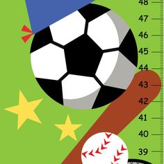 Canvas+Boy+Sport+Growth+Charts++green+by+KidOGrowthChart+on+Etsy,+$33.00