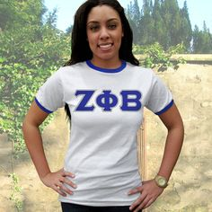 Zeta Phi Beta Anvil Ringer Tee $19.99 #Greek #Sorority #Clothing #Zeta #ZetaPhiBeta