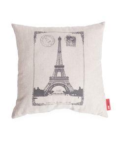 Paris Decorative Linen Throw Pillow