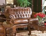 Coaster Victoria Classic Leather Sofa 500681 Tri-Tone | Appliances Connection Leather Chaise Lounge Chair, Leather Sofa, Classic Leather, Brown Leather, Wood Molding, Tufting Buttons, Classic Collection, Seat Cushions, Accent Chairs