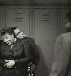 Ella Fitzgerald and Dizzy Gillespie, New York 1950; photographed by Herman Leonard.