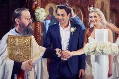 Santorini Wedding - church ceremony Wedding Church, Church Ceremony, Santorini Wedding, Elegant Wedding, Crown, Fashion, Moda, Corona, Fashion Styles