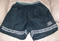 Mens Black Umbro Soccer Gym Training Shorts by TwiggyPudding