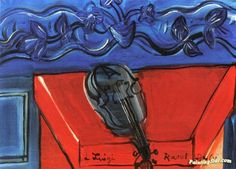 The Blue Violin Artwork by Raoul Dufy Hand-painted and Art Prints on canvas for sale,you can custom the size and frame