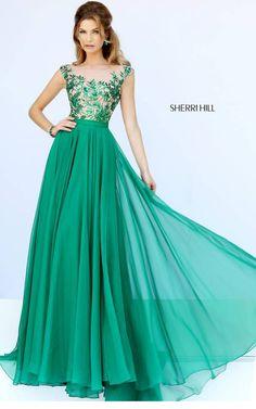 Sherri Hill 11214 Emerald Evening Gown2015