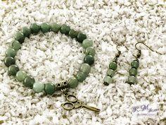 Zöld aventurin karkötő és fülbevaló R.M.ékszer szett Beaded Bracelets, Jewelry, Photos, Accessories, Fashion, Moda, Jewlery, Pictures, Jewerly