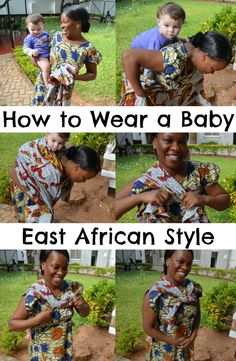 How to wear a baby in a kanga or kitenge, East African style. #babywearing #naturalparenting