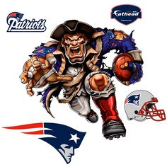 You're a dedicated New England Patriots fan and love to flaunt it. Add some much-needed team spirit to any room with this Powerhouse Patriot 5-Pack Removable Wall Decal. These awesome Fathead decals feature crisp, high-definition graphics that will put your New England Patriots pride on full display and ensure everyone knows where your allegiance lies! Patriots Football Team, Nfl Football Helmets, Patriots Fans, Football Stuff, Football Art, Soccer Jerseys, Pittsburgh Steelers, College Football, Dallas Cowboys
