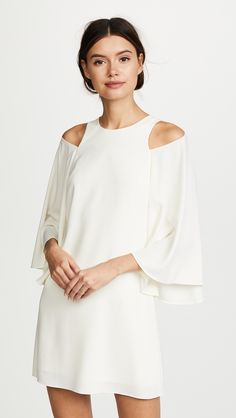 de4424266b online shopping for Halston Heritage Bell Sleeve Shift Dress from top  store. See new offer for Halston Heritage Bell Sleeve Shift Dress