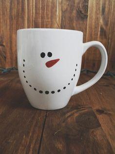 Snowman ceramic mug, couple, wedding gift, newlywed, engagement, wedding shower, house warming