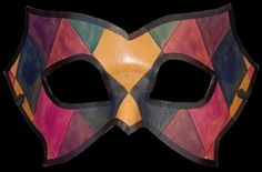 Leather Venetian masquerade mask