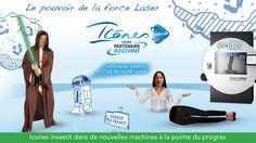 Campagne Star Wars pour annoncer l'arrivée de notre nouvelle machine de découpe laser http://www.icones.fr/decoupe-laser-numerique-haute-vitesse/