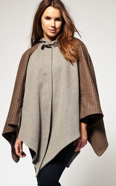 ASOS Curve Heritage Check Cape