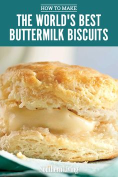 To find the perfect buttermilk biscuit formula, our Test Kitchen experts whipped up hundreds of biscuit recipes to land on our all-time best batch of buttermilk biscuits. We're willing to declare that they're the best biscuits ever. Southern Buttermilk Biscuits, Homemade Biscuits Recipe, Buttermilk Recipes, Flaky Buttermilk Biscuit Recipe, Best Buttery Biscuit Recipe, Southern Homemade Biscuits, Baking Biscuits, Biscuit Recipe Video, Crack Crackers