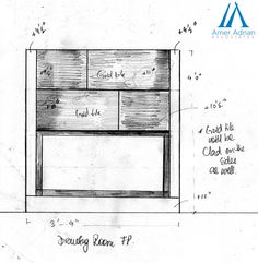 Fireplace Sketch Design Idea by Team AAA