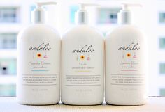 I love this paraben free Shampoo & Conditioner from Andaloo on etsy. So cute and works great!!