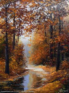 The Gold Of The Autumn oil canvas Dimensions 40 x 50 cm 15 7 x 19 7 inches Please note This painting has been sold Now offering as a commission Other dimensions are available to order The price depends on dimensions and should be discussed additionally Allow 15 25 days to complete the painting Your commission will be painted in same colors and very close to this original shown The painter will send periodically updates as he is working on the painting daily if you wish Detailed and large…