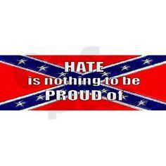 anti confederate flag | anti_rebel_flag_bumper_sticker.jpg?color=White&height=460&width=460 ...