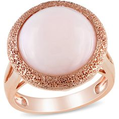 4-1/2 Carat T.G.W. Pink Opal Pink Rhodium-Plated Sterling Silver Fashion Ring $94.00
