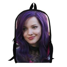 Sofia Carson women backpack descendants Backpack for Boys and Girls Kids Cartoon women Bag children school bags custom made