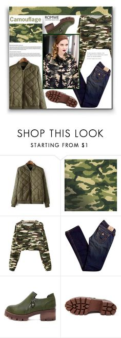 """""""Camouflage"""" by aminkicakloko ❤ liked on Polyvore featuring True Religion, women's clothing, women, female, woman, misses and juniors"""