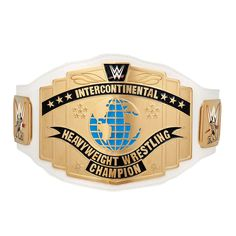WWE Intercontinental Championship Replica Title Belt (2014) with Free Pouch Bag Wwe Divas Championship, World Heavyweight Championship, Wwe Intercontinental Championship, Wwe Logo, Wwe Raw Women, Wwe Belts, Wwe Action Figures, Wwe World, Royal Rumble